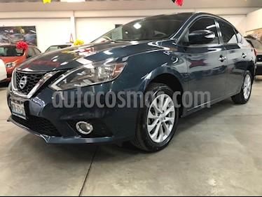 Nissan Sentra Advance Aut usado (2017) color Azul Electrico precio $215,000