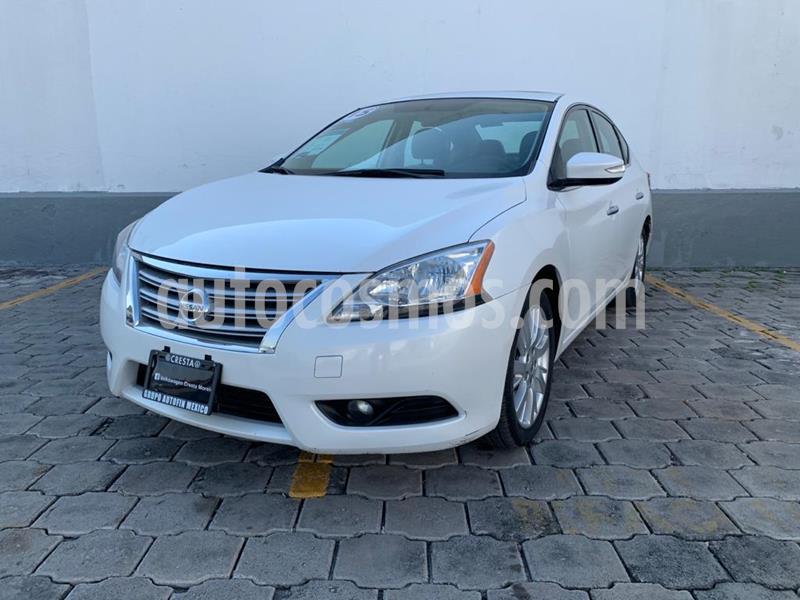 Nissan Sentra Exclusive Aut NAVI usado (2015) color Blanco Perla precio $169,900