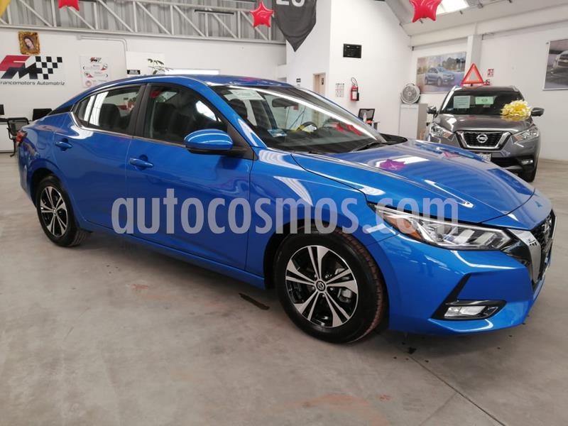 Nissan Sentra Advance usado (2020) color Azul Zafiro precio $310,000