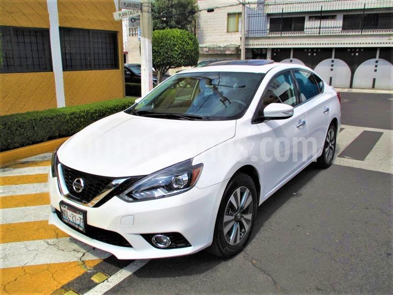 Nissan Sentra Exclusive Aut NAVI usado (2018) color Blanco Perla precio $249,900