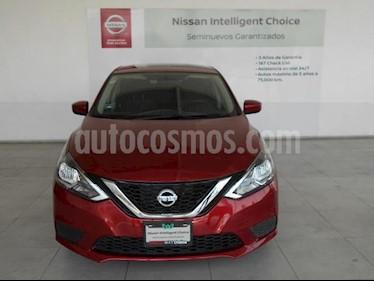Nissan Sentra 4P SENSE L4/1.8 MAN usado (2018) color Rojo precio $239,000