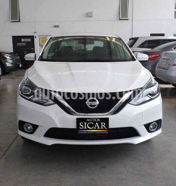 Nissan Sentra Exclusive Aut NAVI usado (2017) color Blanco precio $229,000