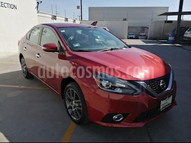Nissan Sentra Exclusive Aut NAVI usado (2018) color Rojo Burdeos precio $280,000