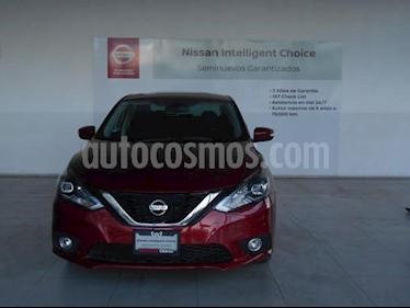 Foto Nissan Sentra 4P EXCLUSIVE CVT CLIMATIC GPS PIEL QC F. LED RA-1 usado (2018) color Rojo precio $309,000