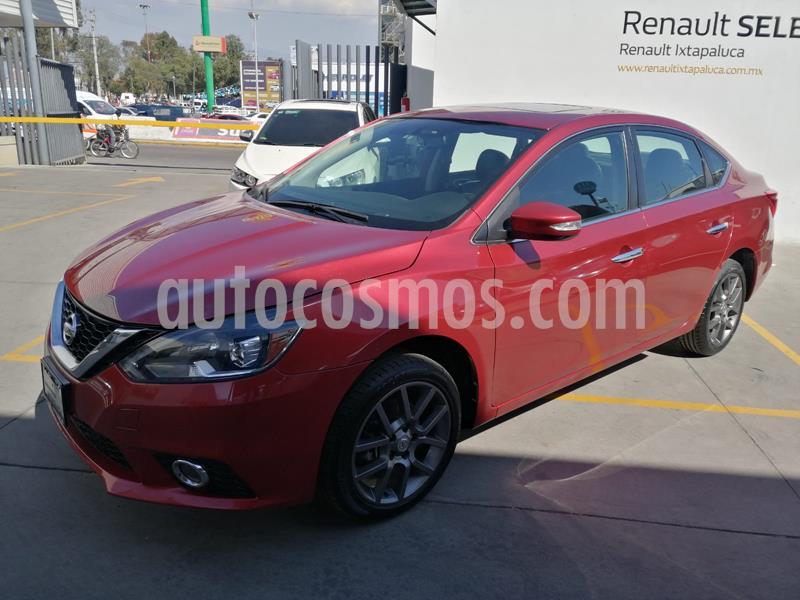 Nissan Sentra Exclusive NAVI Aut usado (2018) color Rojo Burdeos precio $278,000