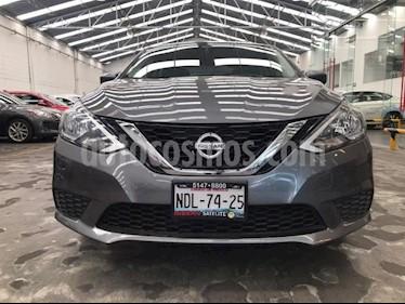 Nissan Sentra 4P SENSE AT A/AC. RA-16 usado (2018) color Gris precio $215,500