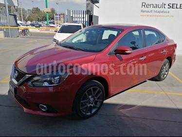 Nissan Sentra Exclusive Aut  usado (2018) color Rojo Burdeos precio $280,000