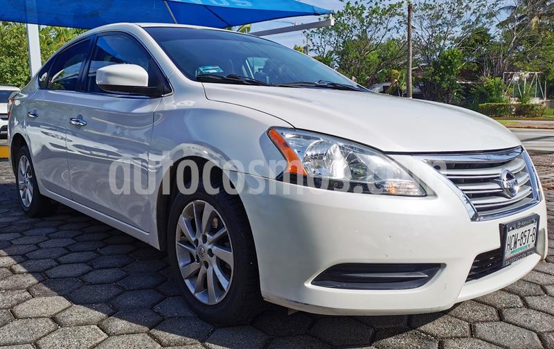 Nissan Sentra Sense Aut usado (2015) color Blanco Perla precio $160,000