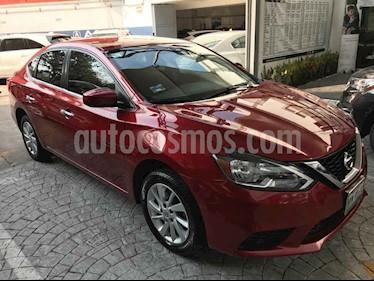 Nissan Sentra 4p Sense L4/1.8 Man usado (2017) color Rojo precio $186,000