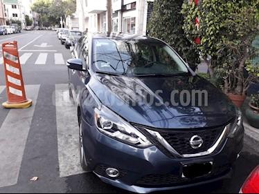 Nissan Sentra Exclusive NAVI Aut usado (2017) color Azul Electrico precio $219,000