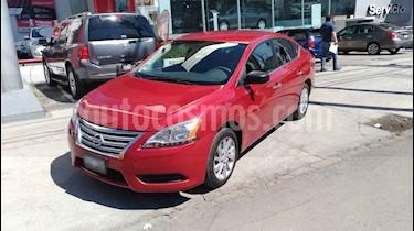 Nissan Sentra 4p Sense L4/1.8 Aut usado (2014) color Rojo precio $154,000