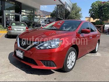 Nissan Sentra 4p Sense L4/1.8 Man usado (2018) color Rojo precio $205,000