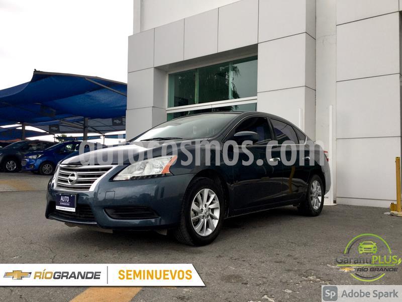 Nissan Sentra Sense Aut usado (2015) color Azul Oscuro precio $150,000
