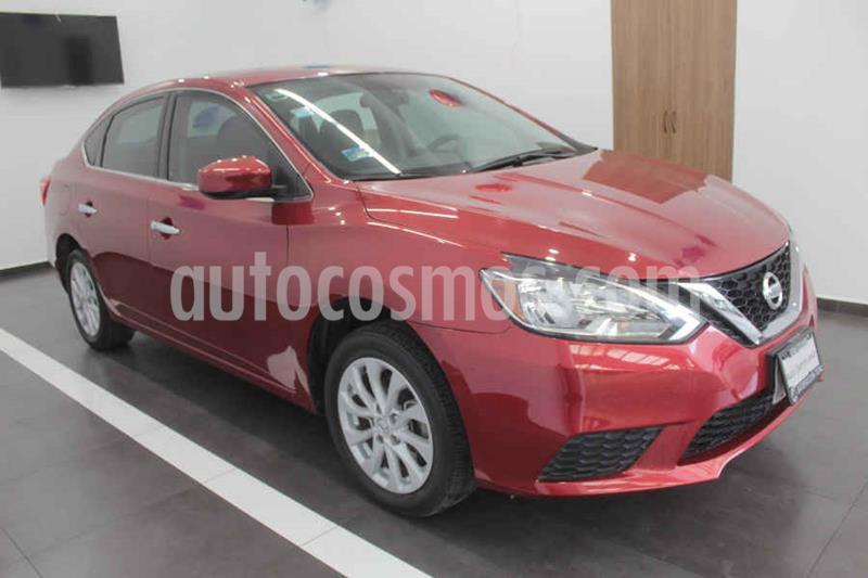 Nissan Sentra Sense Aut usado (2017) color Rojo precio $195,000