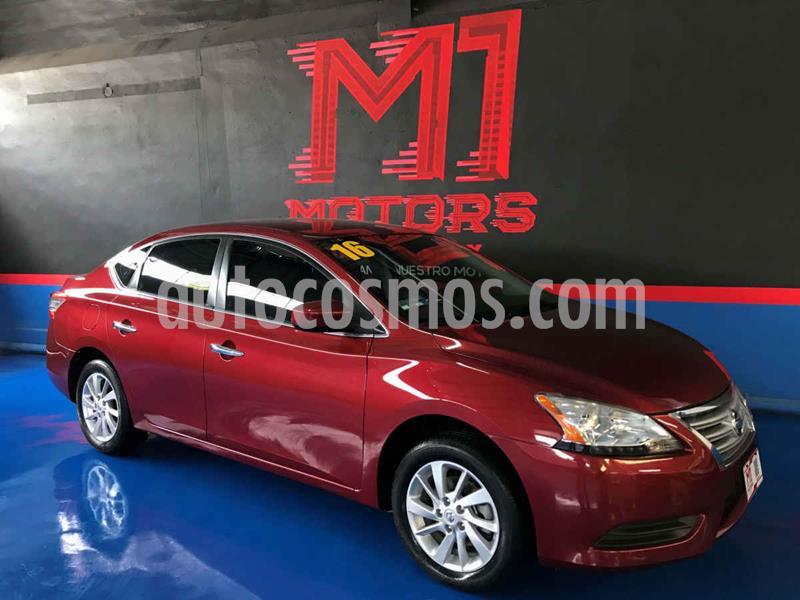 Nissan Sentra Sense Aut usado (2016) color Rojo precio $164,500