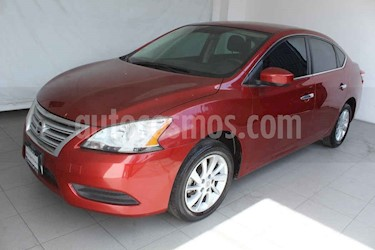 Nissan Sentra 4p Sense L4/1.8 Aut usado (2016) color Rojo precio $189,000