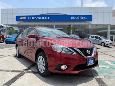 Nissan Sentra Advance Aut usado (2017) color Rojo Burdeos precio $190,000