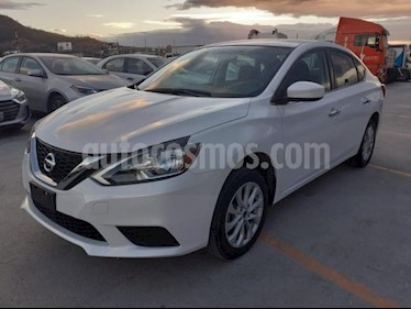 Nissan Sentra 4p Sense L4/1.8 Aut usado (2018) color Blanco precio $210,000
