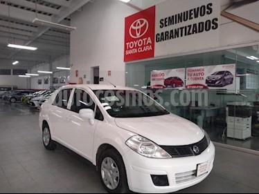 Nissan Tiida Sedan 4p Sedan Sense L4/1.8 Man usado (2018) color Blanco precio $159,000