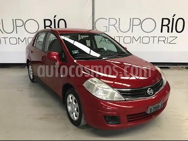 Foto venta Auto usado Nissan Tiida Sedan Custom (2011) color Rojo Burdeos precio $95,000