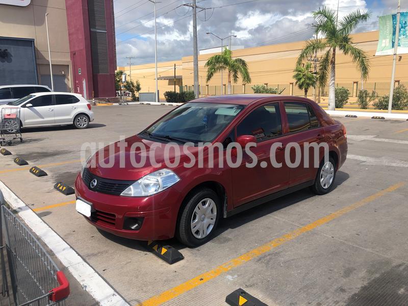 Nissan Tiida Sedan Comfort Ac usado (2012) color Rojo Burdeos precio $93,000