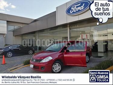 Nissan Tiida Sedan SENSE TM usado (2017) color Rojo precio $127,000