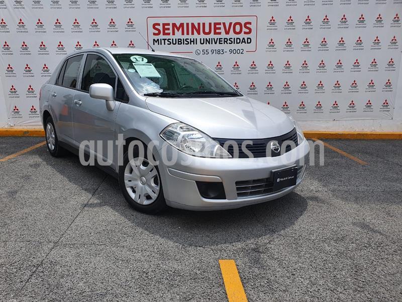 Nissan Tiida Sedan Sense Aut usado (2017) color Plata precio $165,000