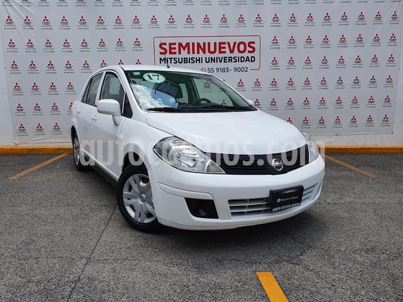 Nissan Tiida Sedan Sense usado (2017) color Blanco precio $140,000