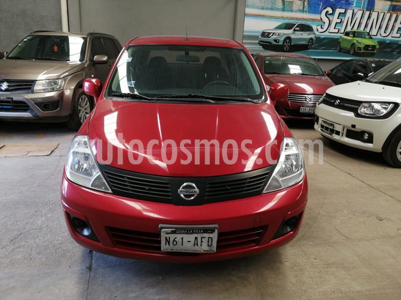 Nissan Tiida Sedan Sense usado (2016) color Rojo Burdeos precio $135,000