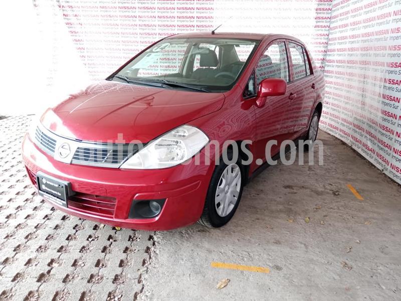 Nissan Tiida Sedan Sense usado (2014) color Rojo Burdeos precio $105,000