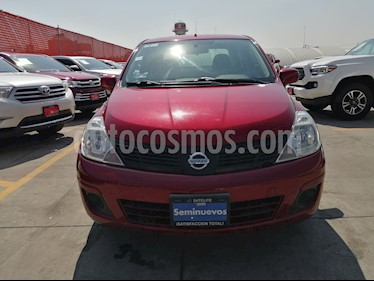Nissan Tiida Sedan Sense Aut usado (2016) color Rojo Burdeos precio $129,000