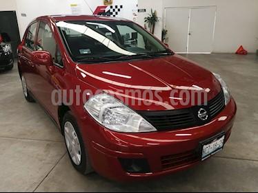 Nissan Tiida Sedan Sense usado (2018) color Rojo Burdeos precio $169,000