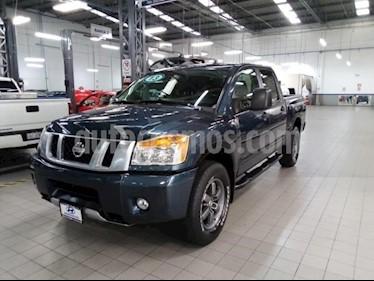 Nissan Titan 4P CREW CAB PRO-4X TA PIEL DVD QC RA-18 4X4 usado (2013) color Azul precio $295,000