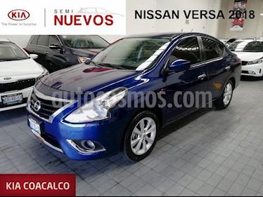 Foto venta Auto usado Nissan Versa 4p Advance L4/1.6 Aut (2018) color Azul precio $205,000