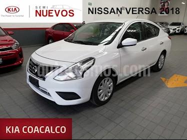 Foto venta Auto usado Nissan Versa 4p Sense L4/1.6 Aut (2018) color Blanco precio $179,000