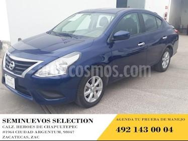Foto venta Auto usado Nissan Versa 4p Sense L4/1.6 Man (2019) color Azul precio $189,000