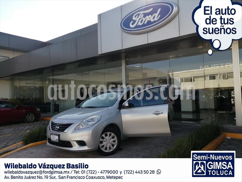Nissan Versa Sense Aut usado (2013) color Plata precio $98,000