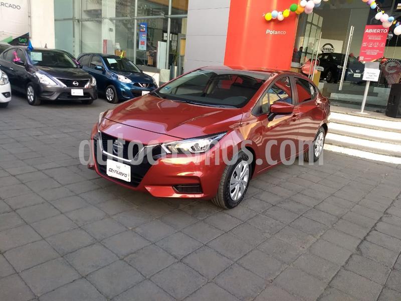 Nissan Versa Sense Aut usado (2020) color Rojo precio $240,000