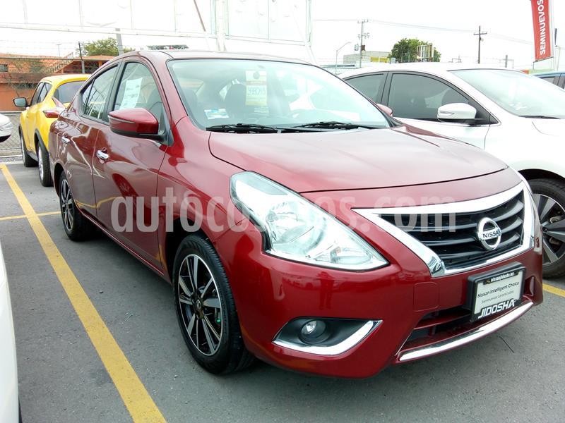 Nissan Versa Exclusive NAVI Aut usado (2019) color Rojo precio $260,000
