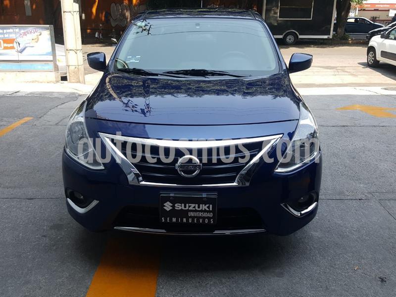 Nissan Versa Advance usado (2018) color Azul precio $180,000