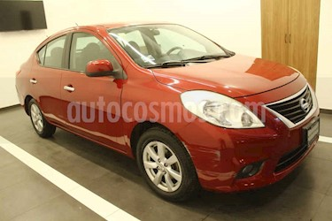 Nissan Versa 4p Exclusive aut usado (2013) color Rojo precio $120,000