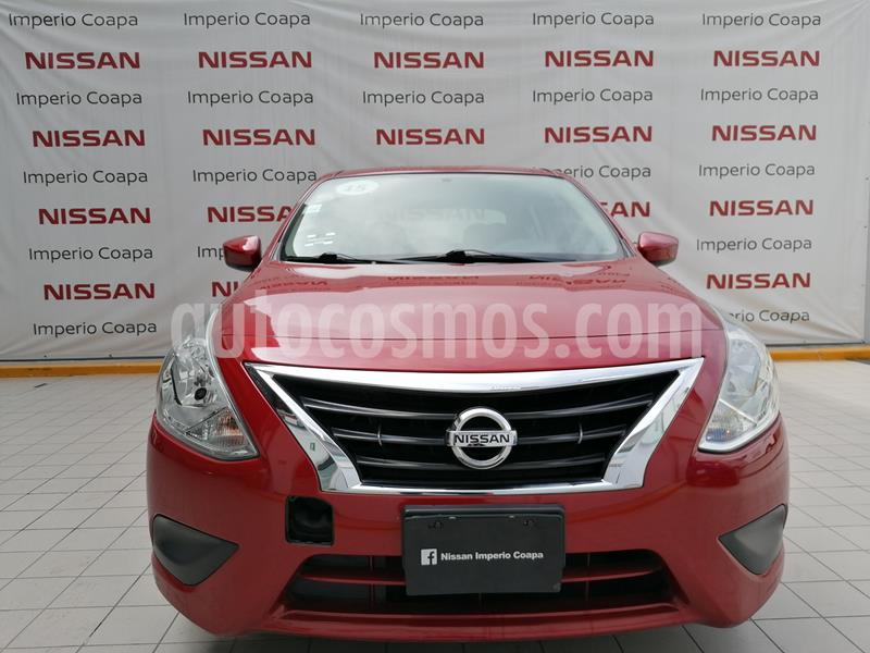 Nissan Versa Sense usado (2015) color Rojo precio $139,000