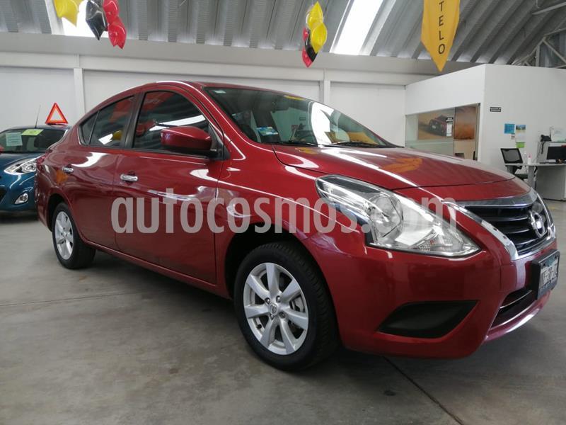 Nissan Versa Sense usado (2019) color Rojo precio $199,000