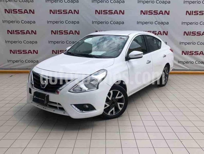 Nissan Versa Exclusive NAVI Aut usado (2018) color Blanco precio $189,000