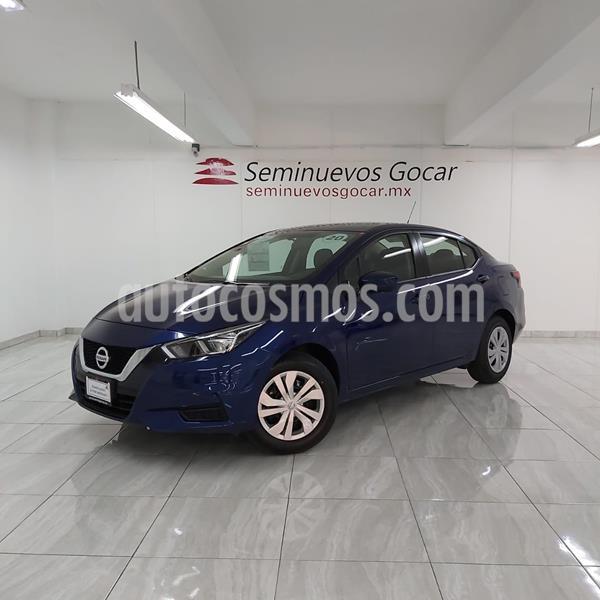 Nissan Versa Sense usado (2020) color Azul precio $209,900