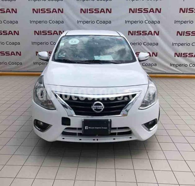 Nissan Versa Exclusive NAVI Aut usado (2018) color Blanco precio $199,000