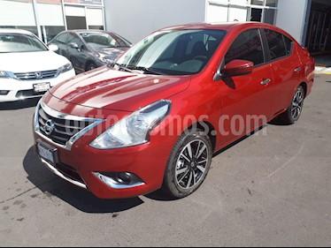 Nissan Versa Exclusive NAVI Aut usado (2019) color Rojo precio $225,000