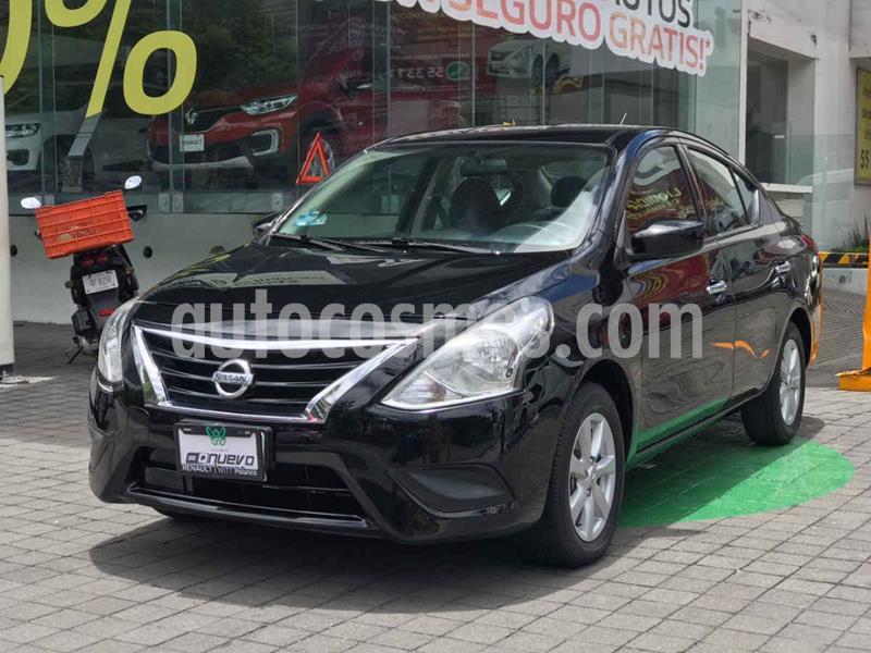 Nissan Versa Sense usado (2019) color Negro precio $215,000