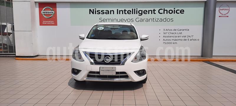 Nissan Versa Exclusive Aut  usado (2016) color Blanco precio $169,000
