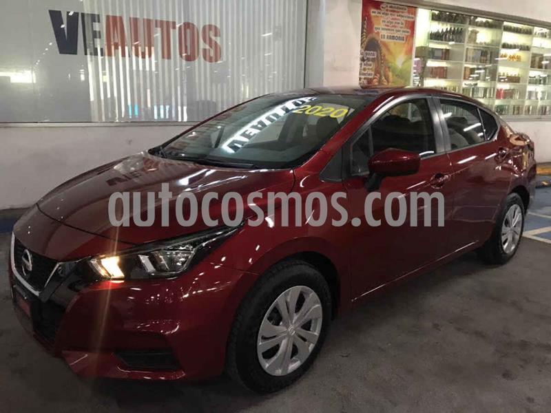 Nissan Versa Sense usado (2020) color Rojo precio $224,000
